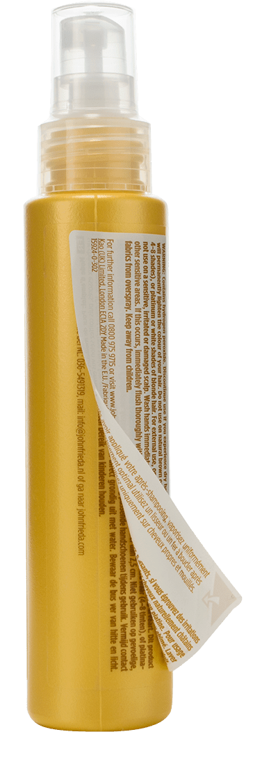 ECL Label Example L'Oreal Blonde